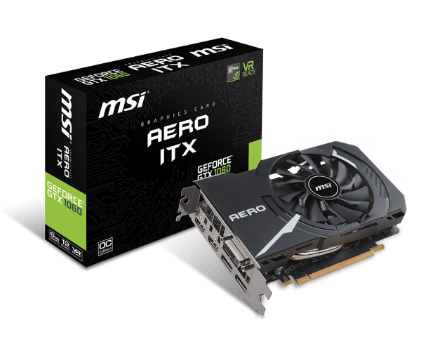 MSI GeForce GTX 1060 AERO ITX 6G, 6GB GDDR5, DP/HDMI/DVI