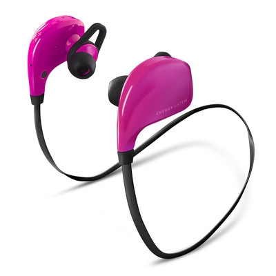 ENERGY Earphones BT Sport Pink, sluchátka s mikrofonem Bluetooth V4.0 class II, EAR FIX