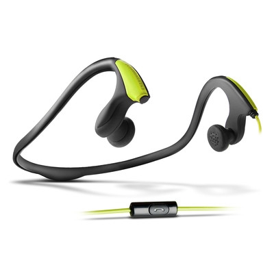 ENERGY Earphones Running One Neon Green, sportovní sluchátka s mikrofonem, 3,5mm jack 4 pin, 105dB ± 3dB