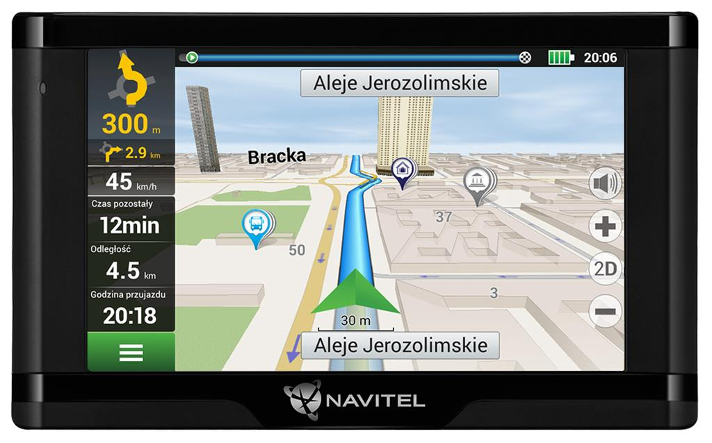 NAVITEL E500 MAGNETIC LIFETIME 5'' EU45+RUS,UKR,BLR,KAZ + magnetický držák