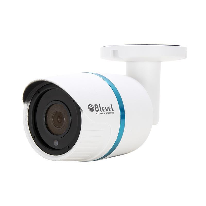 8level IP camera 4MP, 2.8mm, PoE, WDR, IR20m, SD