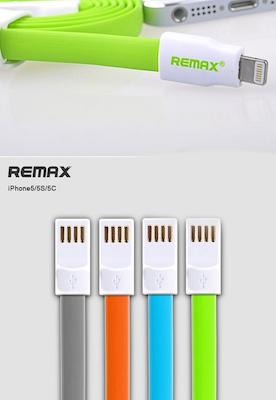 REMAX datový kabel pro iPhone 5/5S, iPad AIR, mini, 1,2m dlouhý, šedý