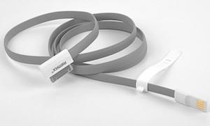 REMAX datový kabel pro iPhone 4/4S, iPad, mini, 1,2m dlouhý, šedý
