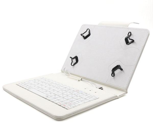 """C-TECH PROTECT pouzdro univerzální s klávesnicí pro 7""""-7,85"""" tablety, FlexGrip, NUTKC-01, bílé"""