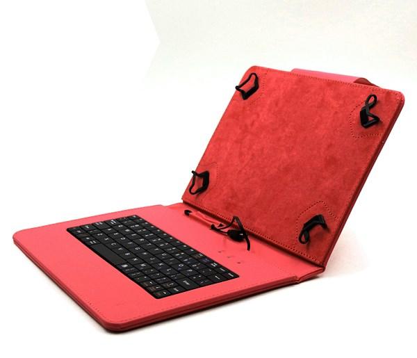 """C-TECH PROTECT pouzdro univerzální s klávesnicí pro 9,7""""-10,1"""" tablety, FlexGrip, NUTKC-04, červené"""