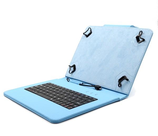 """C-TECH PROTECT pouzdro univerzální s klávesnicí pro 9,7""""-10,1"""" tablety, FlexGrip, NUTKC-04, modré"""