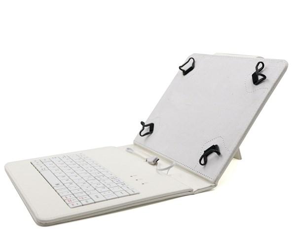 """C-TECH PROTECT pouzdro univerzální s klávesnicí pro 8"""" tablety, FlexGrip, NUTKC-02, bílé"""