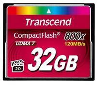 Transcend 32GB CF (800X) paměťová karta