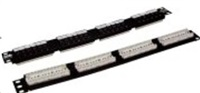 "Patch panel 19"" 24port Cat6, 30u Au, 110"