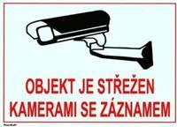 XtendLAN Bezpečnostní samolepka pro kamerové systémy, transparentní, 210x150mm