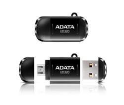 ADATA flash disk 16GB UD320 OTG USB 2.0 micro USB černý