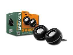 CANYON repro 2.0, 6W, 20Hz-20kHz, VOLUME edition, USB, 3.5mm jack, černo-stříbrná