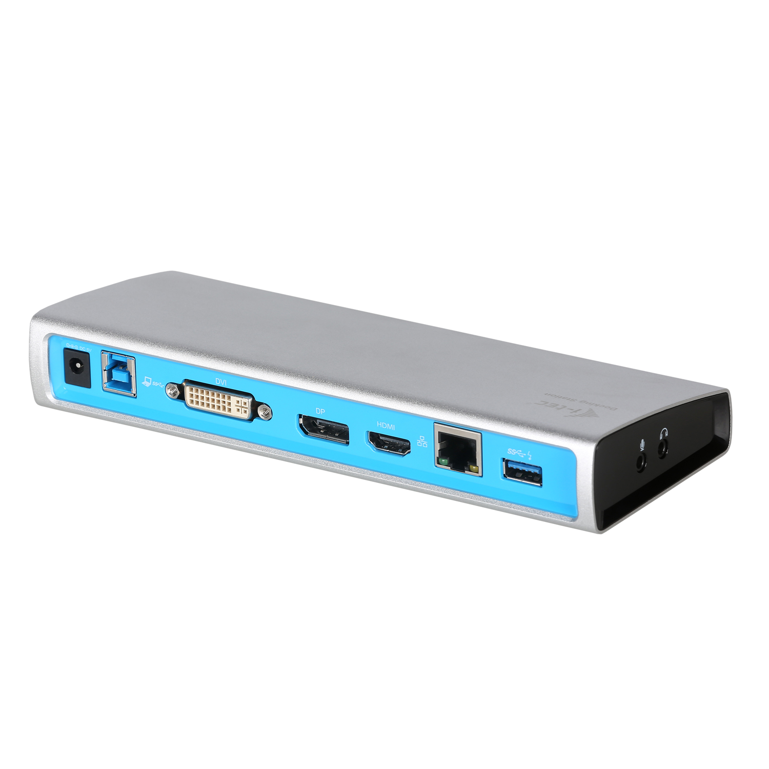 iTec USB 3.0 METAL Docking Station DVI+HDMI/DP Glan + Audio + USB 3.0 HUB