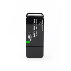 MODECOM Čtečka paměťových karet CR MINI 2 3.0, černý