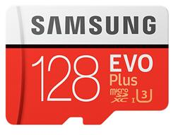 Samsung paměťová karta 128GB EVO Plus Micro SDXC UHS-I U3 Class 10 (čtení/zápis: 100/90MB/s) + SD adaptér