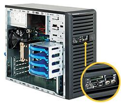 """SUPERMICRO Mid-Tower 4x 3,5"""" fixed HDD, 2x 5,25"""", 1x external 3,5"""", 400W (80PLUS Gold)"""