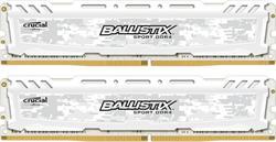 Crucial DDR4 16GB (kit 2x8GB) Ballistix Sport LT DIMM 2400MHz CL16 DR x8 bílá