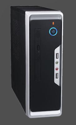 Eurocase Mini ITX WI-01, desktop/tower, 2xUSB, audio