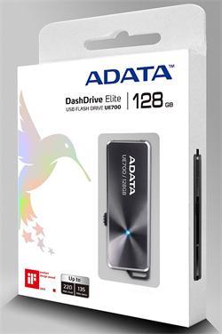 ADATA flash disk 128GB UE700 USB 3.0 (čtení/zápis: 220/120MB/s) černý