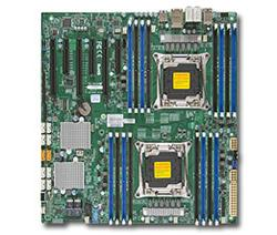 SUPERMICRO MB 2xLGA2011-3, iC612 16x DDR4 ECC,10xSATA3/8x SAS3 sw LSI 3008(PCI-E 3.0/3,2(x16,x8)PCI-E 2.0/1(x4),Audio,2x LAN,IPMI