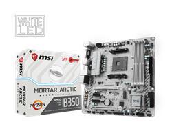 MSI B350M MORTAR ARCTIC/Socket AM4/DDR4/USB3.1/DVI-D/HDMI/DP/8111H/mATX