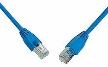 Patch kabel CAT5E SFTP PVC 3m modrý