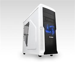 Zalman MidTower Z3 Plus, mATX/ATX, průhledný bok, bez zdroje, bílá