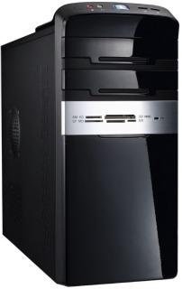 PC skříň Eurocase mATX MC47 Mini Tower, bez zdroje, čtečka karet USB 3.0 (černá)