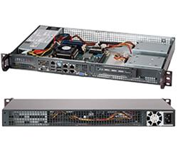 "SUPERMICRO mini1U chassis, 1x 3,5"" fixed HDD (nebo s MCP-220-00044-0N 2x2,5""), 200W (Gold) (Front panel)"