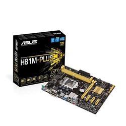 ASUS H81M-PLUS soc.1150 H81 DDR3 mATX 1xPCIe USB3 GL iG D-Sub DVI HDMI