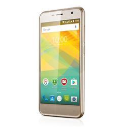"Muze B3 PRESTIGIO - 1GB/8GB 5.0"" IPS (1280x720) QuadCore 1.3GHz cam 8+2 Mpx 2000mAh dual Android 6.0 zlatá"