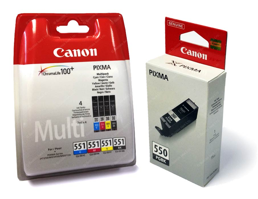 Canon cartridge PGI-550/CLI-551 PGBK/C/M/Y/BK/GY Multi Pack