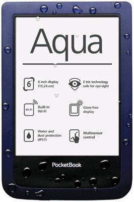 PocketBook 640 Aqua White Touch ebook reader, 6´´ E-ink 800x600 LCD, Wifi, 4GB/SD, voděodolná +100 knih zdarma