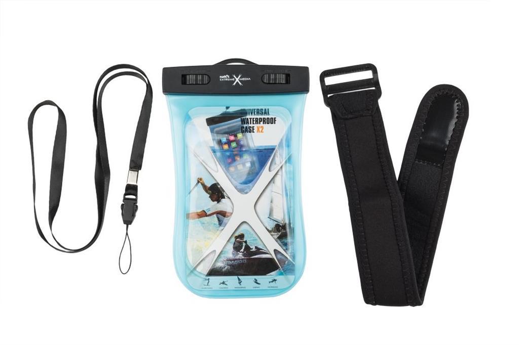 Natec Extreme Media X2 Univerzální pouzdro pro smartphony, vodotěsné, modré
