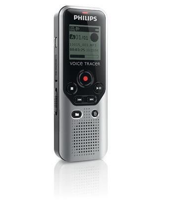 Philips digitální záznamník DVT1200 - 4GB, USB, microSDHC až 32GB