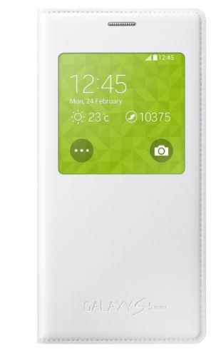 Samsung flipové pouzdro S View (Punching Pattern) EF-CG800BH pro Samsung Galaxy S5 mini (SM-G800), bílá