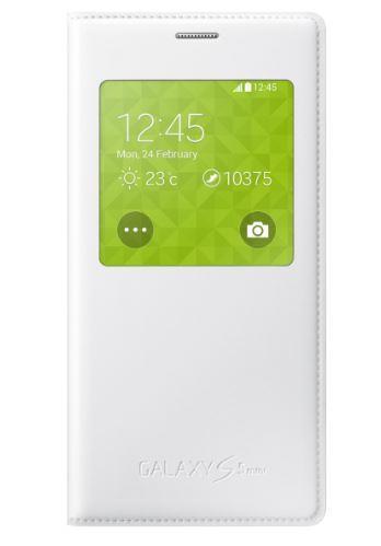 Samsung flipové pouzdro S-view EF-CG800BW pro Samsung Galaxy S5 mini (SM-G800), bílá