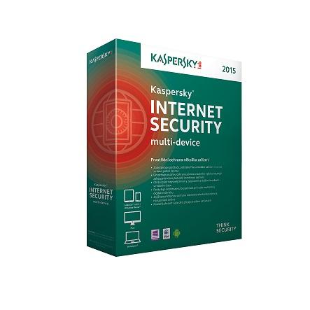 Kaspersky Internet Security multi-device 2017 CZ, 2 zařízení, 2 roky, obnovení licence, elektronick