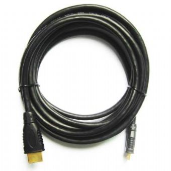 Kabel HDMI-HDMI mini 3m zlac.kon. stin 1.4,černý
