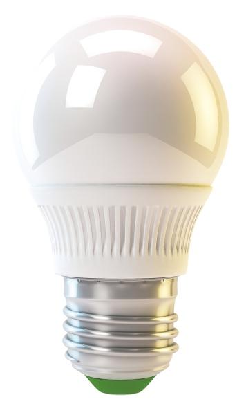 Emos LED žárovka MINI GLOBE, 4W/30W E27, CW studená bílá, 320 lm, Classic A+