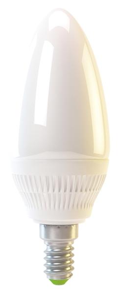 Emos LED žárovka CANDLE, 4W/30W E14, CW studená bílá, 320 lm, Classic A+