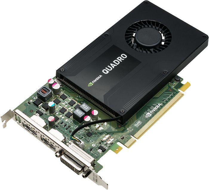 PNY NVIDIA Quadro K2200, 4GB GDDR5 (128 Bit), DVI, 2xDP