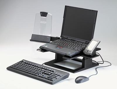 3M Nastavitelný podstavec pod notebook, 33 x 33x 10,2-15,2 cm (LX500) + držák dokumentů