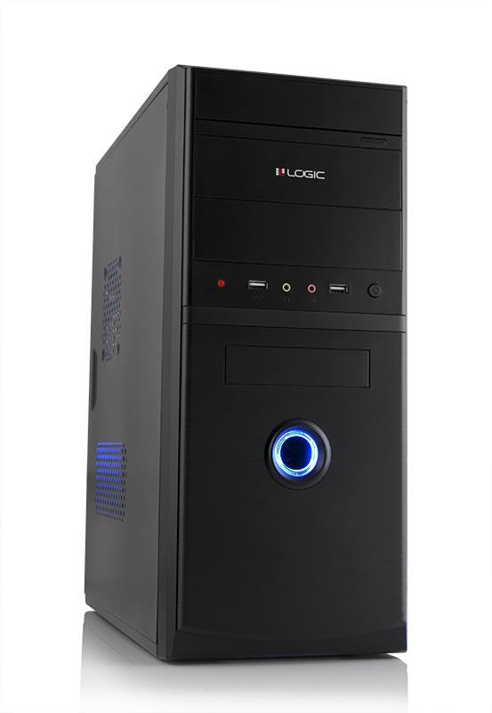 LOGIC PC skříň A10 Midi Tower, zdroj LOGIC 400W ATX PFC, USB 3.0