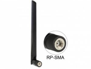 Delock WLAN anténa RP-SMA 802.11 ac/a/h/b/g/n 3 - 5 dBi všesměrová