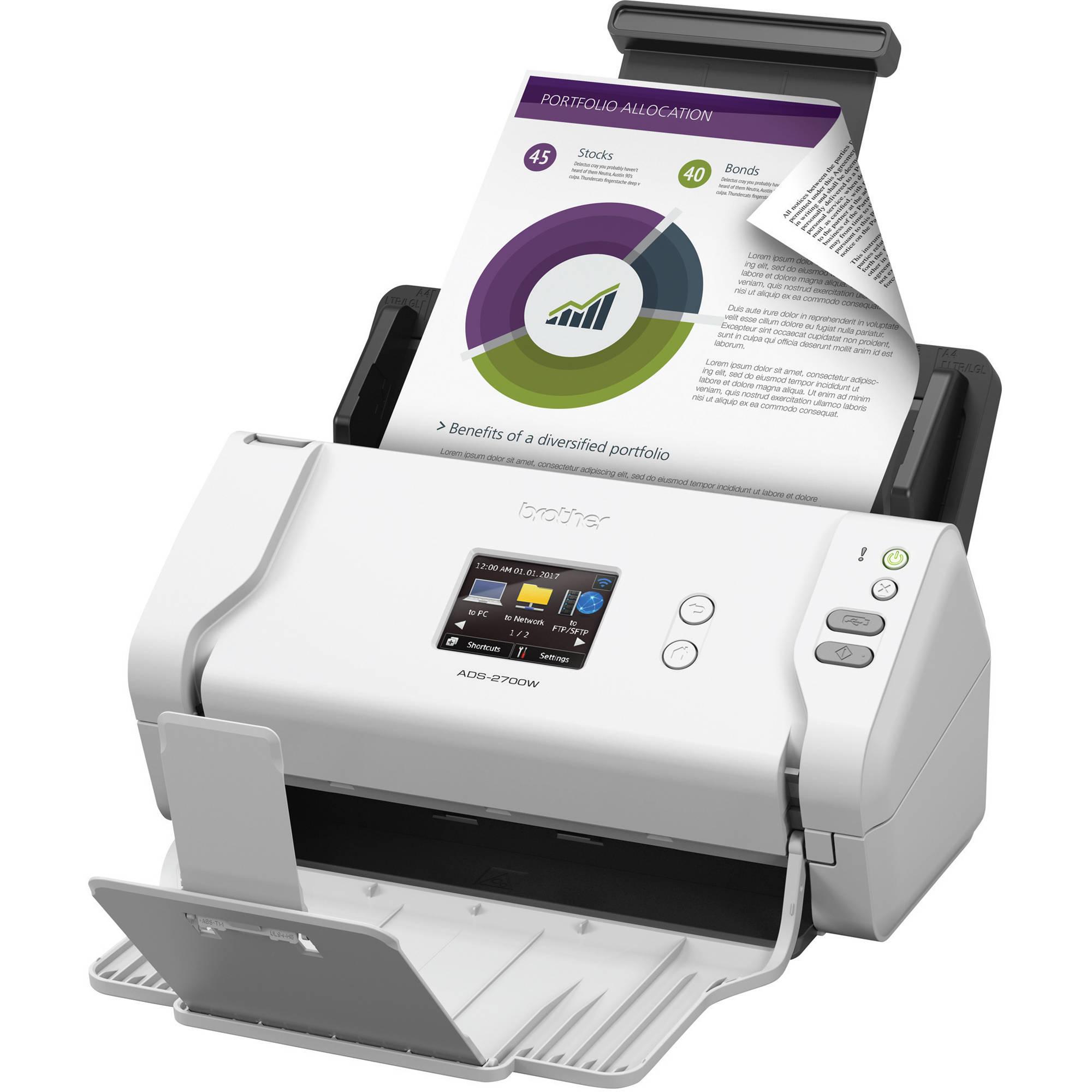 Brother ADS-2700W vysokorychlostní oboustranný skener dokumentů, WiFi