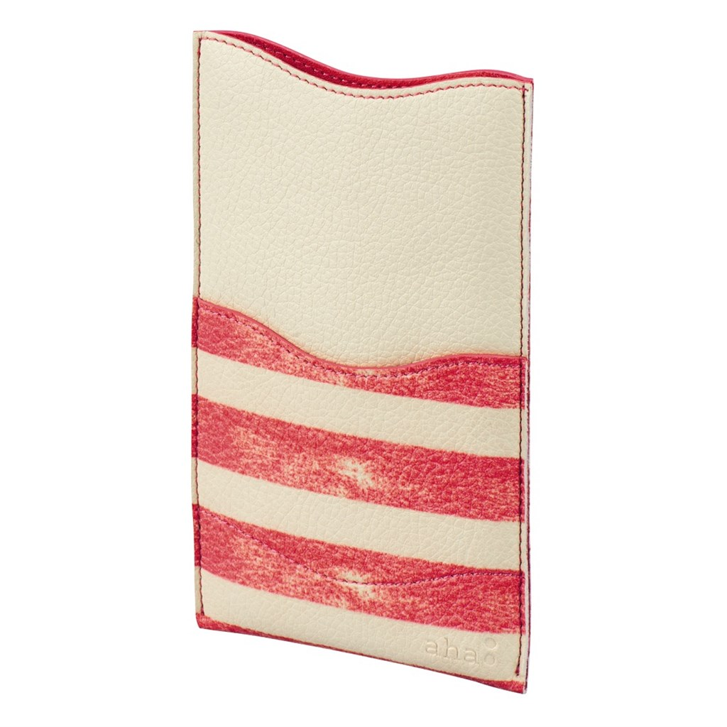 aha: Stripe pouzdro na telefon, velikost L, korálové