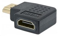 MANHATTAN HDMI Adapter, A Female to A Male, right 90° Angle