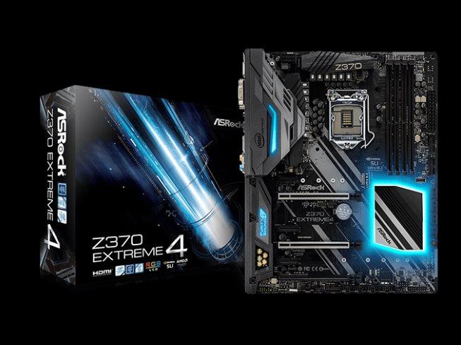 ASROCK MB Z370 EXTREME4 (intel 1151 coffee lake, 4xDDR4 4333MHz, VGA+DVI +HDMI, USB3.1, 8xSATA3 +RAID + 3xM.2, 7.1, GLAN, ATX)