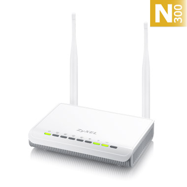 ZyXEL NBG-418N v2, Router Wireless 802.11n (300Mbps), 4x10/100Mbps, SPI firewall, WPA2, 2x 5dBi antenna
